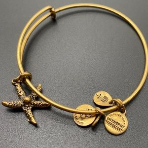 Alex and Ani | Gold Tone Starfish bangle bracelet